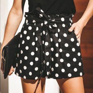 NWT Vici polka dot high waisted pocketed shorts